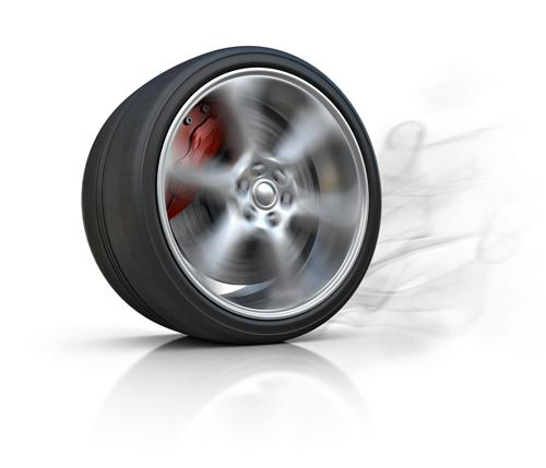 Spinning wheel burnout