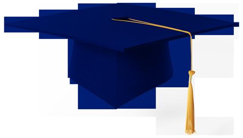 blue graduation cap